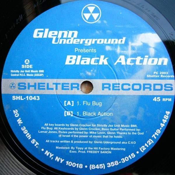 Glenn Underground - Black Action - Shelter Records - SHL-1043