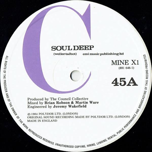 The Council Collective - Soul Deep - Polydor - MINE X1, Polydor - 881 646-1