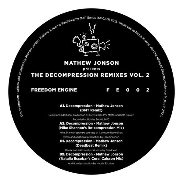 Mathew Jonson - The Decompression Remixes Vol. 2 - Freedom Engine - FE002