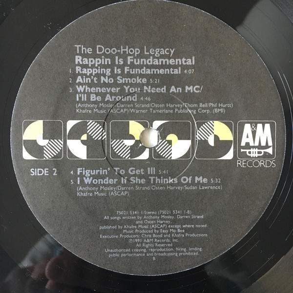 Rappin' Is Fundamental - The Doo-Hop Legacy - A&M Records - 7502-15341