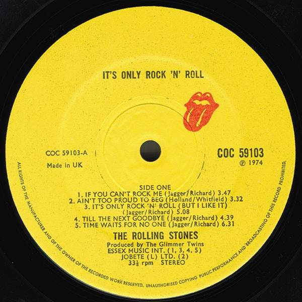 The Rolling Stones - It's Only Rock 'N Roll - Rolling Stones Records - COC 59103