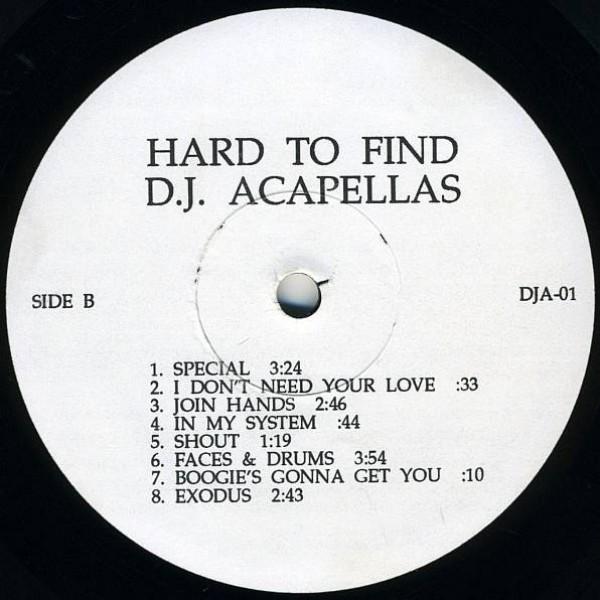 Various - Hard To Find D.J Acapellas - Not On Label - DJA-01