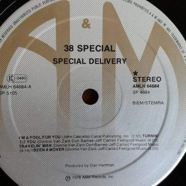 38 Special - Special Delivery - A&M Records - AMLH64684