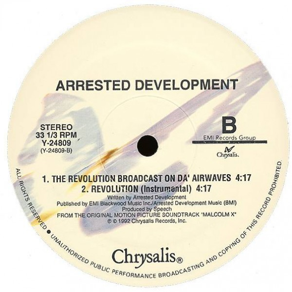 Arrested Development - Revolution - Chrysalis - Y-24809