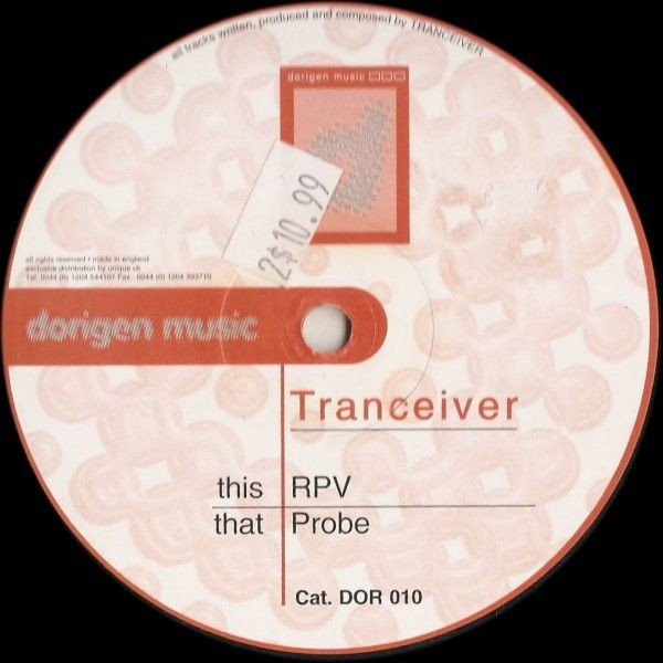 Tranceiver - RPV / Probe - Dorigen Music - DOR 010