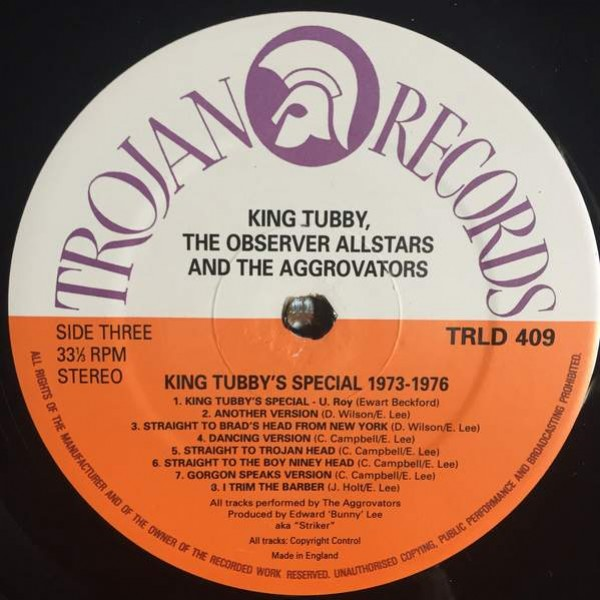 King Tubby , Observer Allstars And The Aggrovators - King Tubby's Special 1973-1976 - Trojan Records - TRLD 409